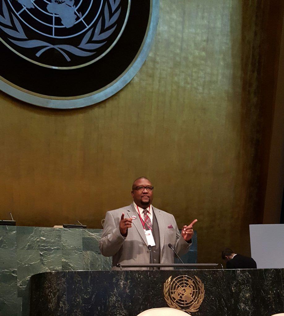 Bridgeway Community Church Senior Pastor, Dr. David Anderson prepares for speech at U.N. on race relations.